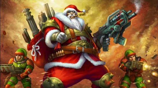 Santa-warrior
