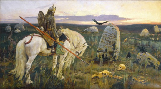 Warrior at the Crossroads, by Viktor Vasnetsov
